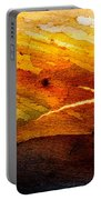 Weathered Wood Landscape Portable Battery Charger