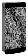 Weathered Wood Triptych Bw Portable Battery Charger