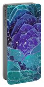 Webbed Succulent In Teal Tones Portable Battery Charger