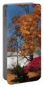 Webster Church On A Fall Day Portable Battery Charger