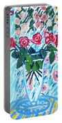 Weekend Roses Portable Battery Charger