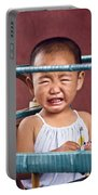 Weeping Baby In His Buggy Portable Battery Charger