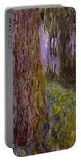 Weeping Willow And The Waterlily Pond Portable Battery Charger