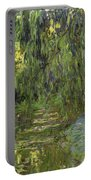 Weeping Willows The Waterlily Pond At Giverny Portable Battery Charger by Claude Monet