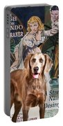 Weimaraner Art Canvas Print - A Streetcar Named Desire Movie Poster Portable Battery Charger