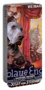 Weimaraner Art Canvas Print - Der Blaue Engel Movie Poster Portable Battery Charger