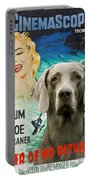 Weimaraner Art Canvas Print - River Of No Return Movie Poster Portable Battery Charger