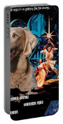 Weimaraner Art Canvas Print - Star Wars Movie Poster Portable Battery Charger