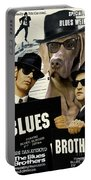 Weimaraner Art Canvas Print - The Blues Brothers Movie Poster Portable Battery Charger