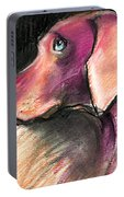 Weimaraner Dog Painting Portable Battery Charger