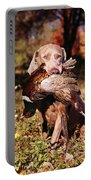 Weimaraner Hunting Dog Retrieving Ring Portable Battery Charger