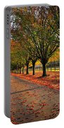 Welcome Home Bradford Pear Lined Drive-way Portable Battery Charger