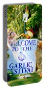 Welcome To The Garlic Festival Portable Battery Charger
