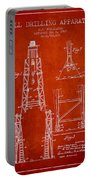 Well Drilling Apparatus Patent From 1960 - Red Portable Battery Charger