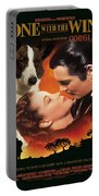 Welsh Corgi Cardigan Art Canvas Print - Gone With The Wind Movie Poster Portable Battery Charger