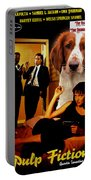 Welsh Springer Spaniel Art Canvas Print - Pulp Fiction Movie Poster Portable Battery Charger