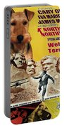 Welsh Terrier Art Canvas Print - North By Northwest Movie Poster Portable Battery Charger
