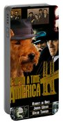 Welsh Terrier Art Canvas Print - Once Upon A Time In America Movie Poster Portable Battery Charger