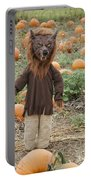 Werewolf In The Pumpkin Patch Portable Battery Charger