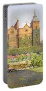 West Front And Gardens Of Hatfield Portable Battery Charger