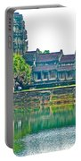 West Gallery From Across Moat In Angkor Wat In Angkor Wat Archeological Park Near Siem Reap-cambodia Portable Battery Charger