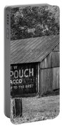 West Virginia Barn Monochrome Portable Battery Charger