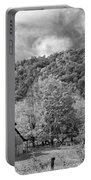 West Virginia Barns Monochrome Portable Battery Charger