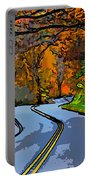 West Virginia Curves 2 Line Art Portable Battery Charger