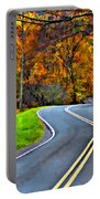 West Virginia Curves Painted Portable Battery Charger