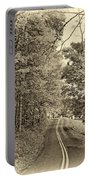 West Virginia Wandering Sepia Portable Battery Charger