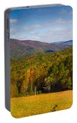 Western North Carolina Horses And Mountains Panorama Portable Battery Charger