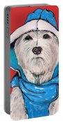 Westie In A Blue Slicker Portable Battery Charger