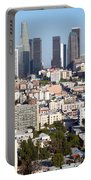 Westlake And Los Angeles Skyline Portable Battery Charger