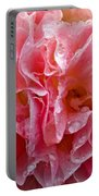 Wet Hollyhock Flower Upclose Portable Battery Charger
