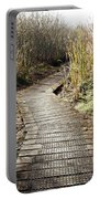 Wetland Walk Portable Battery Charger by Les Cunliffe