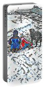 What Fascinates Children And Dogs -  Snow Day - Winter Portable Battery Charger