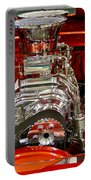What Is Under The Hood-red Customized Retro Pontiac Portable Battery Charger
