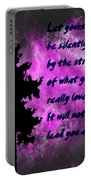 What You Really Love 2 - Rumi Quote Portable Battery Charger