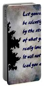 What You Really Love - Rumi Quote Portable Battery Charger