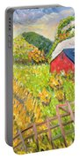 Wheat Harvest Kamouraska Quebec Portable Battery Charger by Patricia Eyre