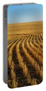 Wheat Rows Portable Battery Charger