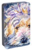 Wheaten Terrier Painting Portable Battery Charger