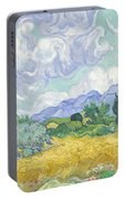 Wheatfield With Cypresses Portable Battery Charger