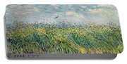 Wheatfield With Lark Portable Battery Charger