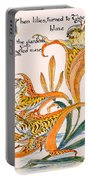 When Lilies Turned To Tiger Blaze Portable Battery Charger by Walter Crane