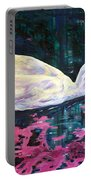 Where Lilac Fall Portable Battery Charger by Derrick Higgins