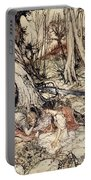 Where Often You And I Upon Fain Primrose Beds Were Wont To Lie Portable Battery Charger by Arthur Rackham