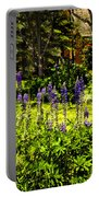 Where The Lupines Grow Portable Battery Charger
