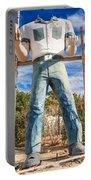 Whered It Go Muffler Man Statue Portable Battery Charger