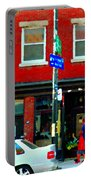 Wheres The Beef On Rue Notre Dame Joe Beef Resto Montreal Urban  Art Scene Carole Spandau Portable Battery Charger